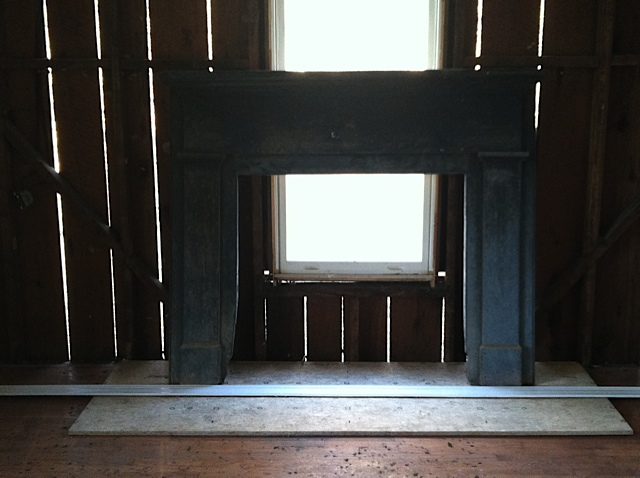 Farmhouse fireplace before
