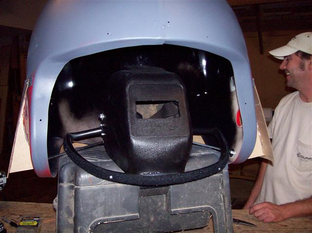 Primer and a welding mask...