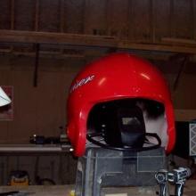 The helmet begins...