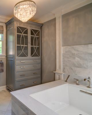 Custom armoire for linens