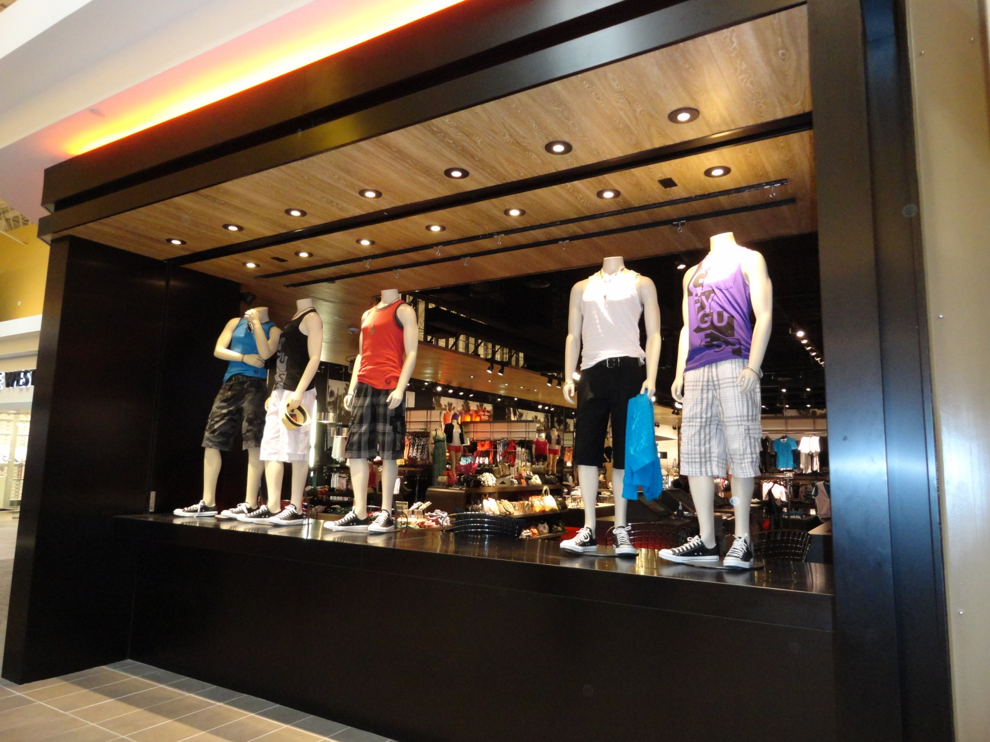 The new store display window