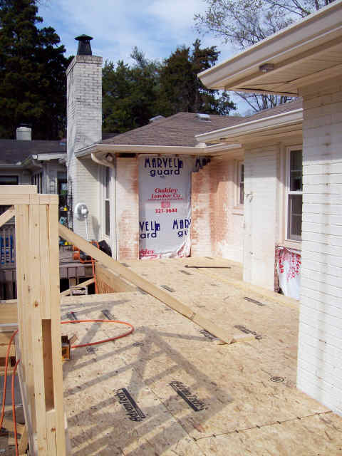 Breaking into the existing home