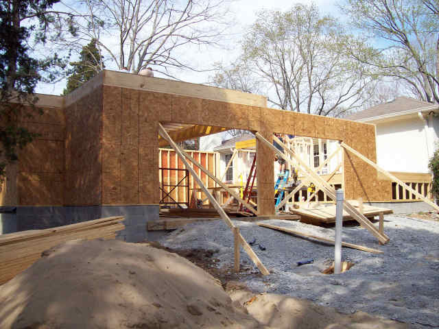 Framing the new garage and Bonus rooms
